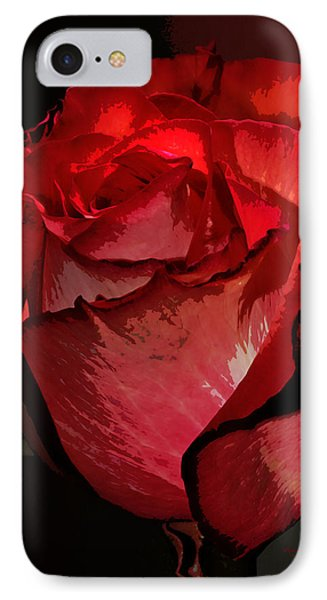 Rare Red Rose IPhone Case