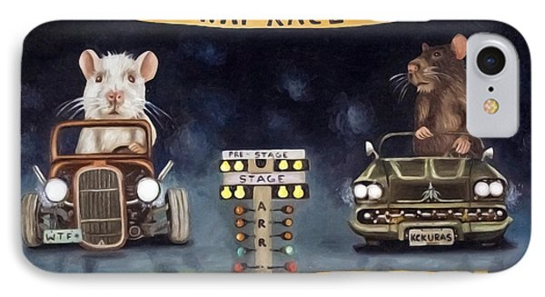 Rat Race Darker Tones Phone Case by Leah Saulnier The Painting Maniac