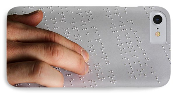 Reading Braille Phone Case by Photo Researchers, Inc.