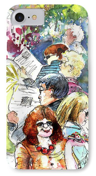 Reading The News 08 Phone Case by Miki De Goodaboom