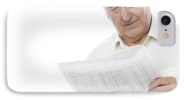 Reading The Newspaper IPhone Case by