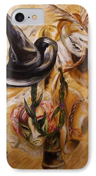 IPhone Case featuring the painting Real Women Wear Many Hats by Karen  Ferrand Carroll