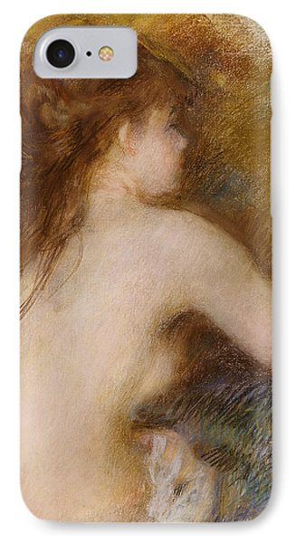 Rear View Of A Nude Woman Phone Case by Pierre Auguste Renoir