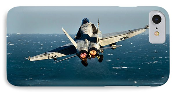 Rear View Of An Fa-18c Hornet Taking Phone Case by Stocktrek Images