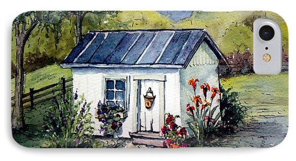 IPhone Case featuring the painting Rebecca's Shack by Gretchen Allen