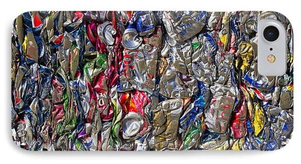 Recycled Aluminum Cans Phone Case by David Buffington