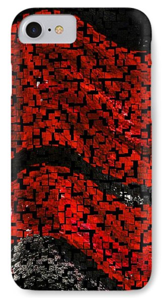 IPhone Case featuring the painting Red And Black Abstract by Carolyn Repka