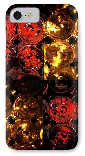 Red And White Wine Collage Phone Case by Joan  Minchak