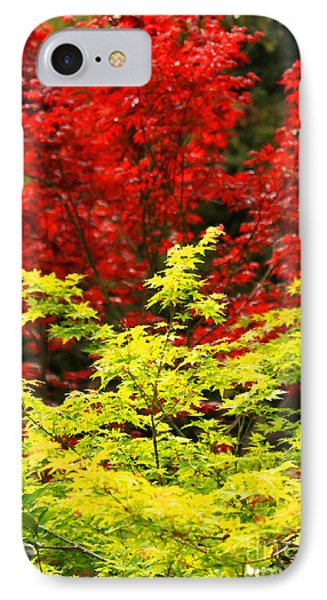 Red And Yellow Leaves Phone Case by James Eddy