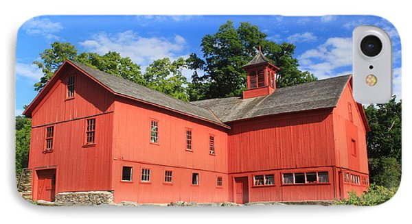 Red Barn At Bryant Homestead Phone Case by John Burk