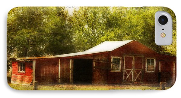 IPhone Case featuring the photograph Red Barn by Joan Bertucci