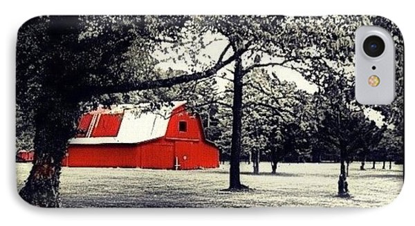 Red Barn IPhone Case by Mari Posa
