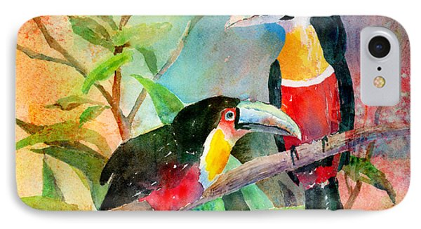 Red-breasted Toucans IPhone Case by Arline Wagner