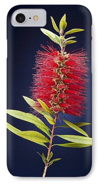 Red Brush Phone Case by Kelley King
