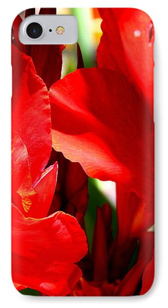 Red Canna Portrait IPhone Case by M Diane Bonaparte