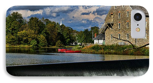 Red Canoes At The Boathouse Phone Case by Paul Ward