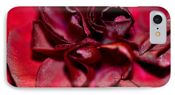 Red Carnation With Heart Phone Case by Sandi OReilly