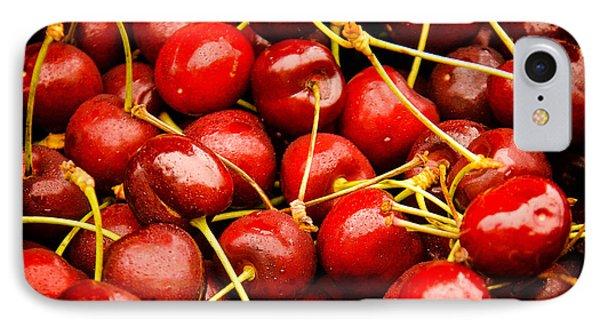 Red Cherries Phone Case by Jen Morrison