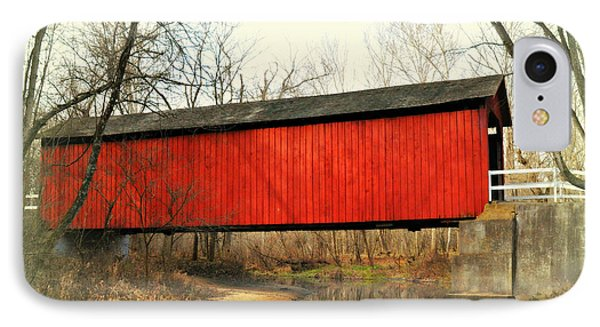 Red Covered Bridge Phone Case by Marty Koch