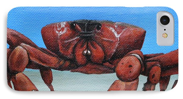 Red Crab Phone Case by Cindy D Chinn