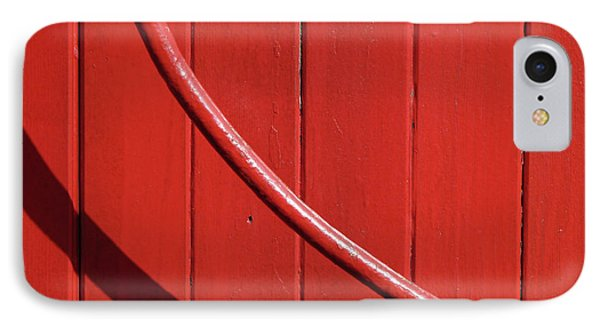IPhone Case featuring the photograph Red Curve by Newel Hunter
