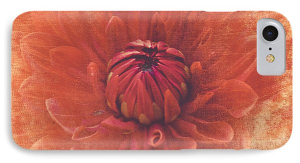 IPhone Case featuring the photograph Red Dahlia by Alana Ranney