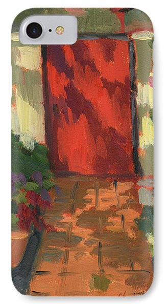 Red Door - Shadow And Light IPhone Case