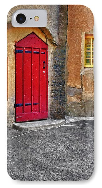 Red Door And Yellow Windows Phone Case by Susan Candelario