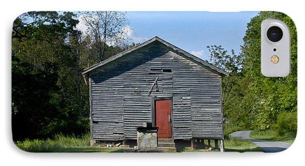 Red Door Of The One Room School House IPhone Case