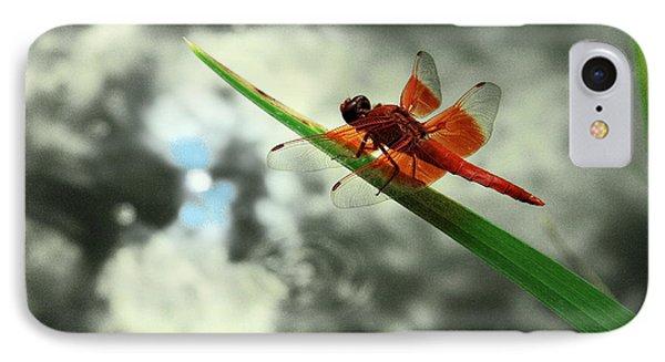 Red Dragonfly Phone Case by Viktor Savchenko