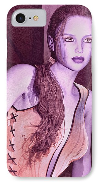 IPhone Case featuring the painting Red Fae by Maynard Ellis