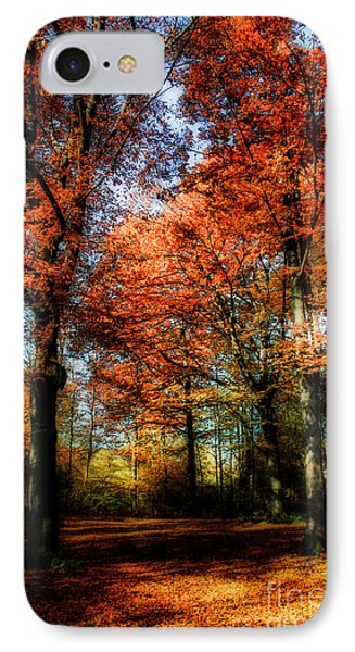 Red Fall Phone Case by Hannes Cmarits
