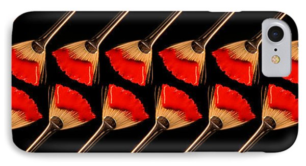 Red Fan Dance IPhone Case by Andee Design