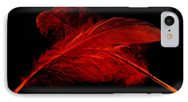 Red Ghost On Black IPhone Case by Steve Purnell
