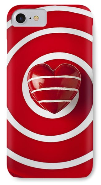 Red Heart Soft Stone Phone Case by Garry Gay
