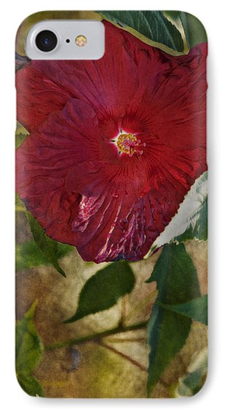 Red Hibiscus Phone Case by Bonnie Bruno