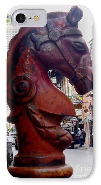 IPhone Case featuring the photograph Red Horse Head Post by Alys Caviness-Gober