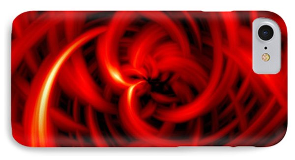 IPhone Case featuring the digital art Red Hot by Davandra Cribbie