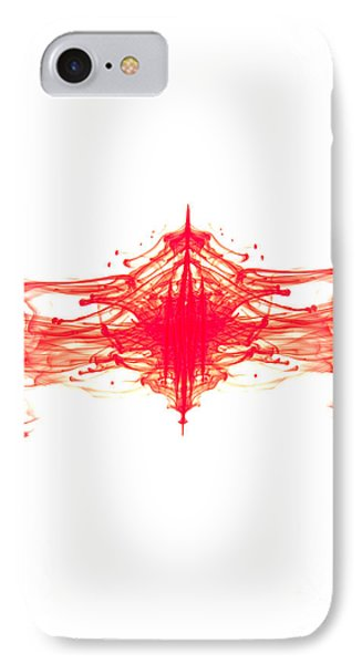 Red Ink Abstract Phone Case by Richard Thomas