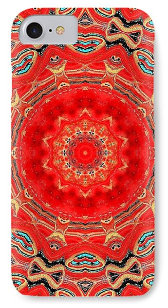 IPhone Case featuring the painting Red Kalideoscope by Carolyn Repka