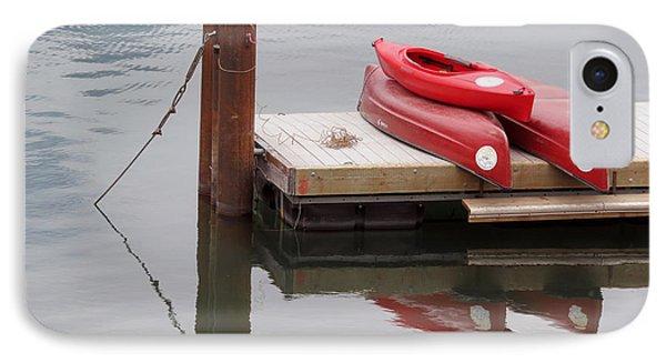 Red Kayaks. IPhone Case by Ausra Huntington nee Paulauskaite