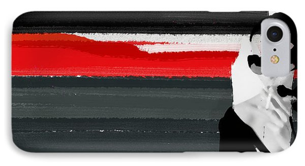 Red Line IPhone Case by Naxart Studio