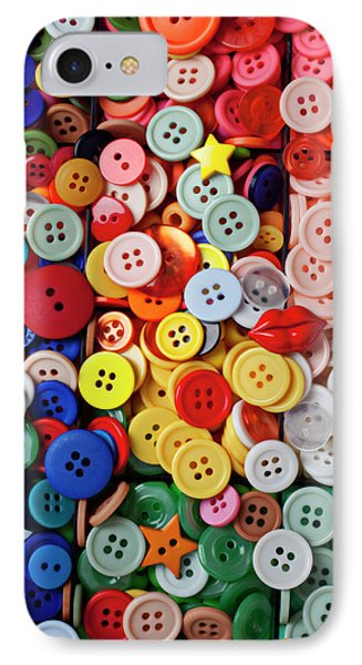 Red Lips Button IPhone Case