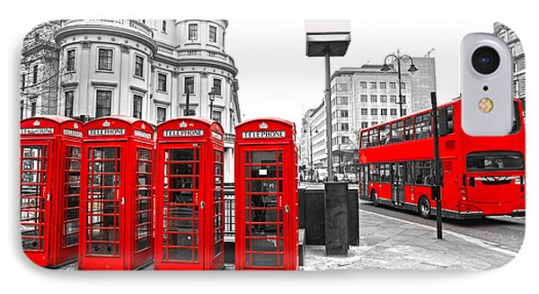 IPhone Case featuring the photograph Red London by Luciano Mortula