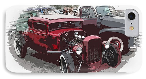 Red Model A Coupe Phone Case by Steve McKinzie