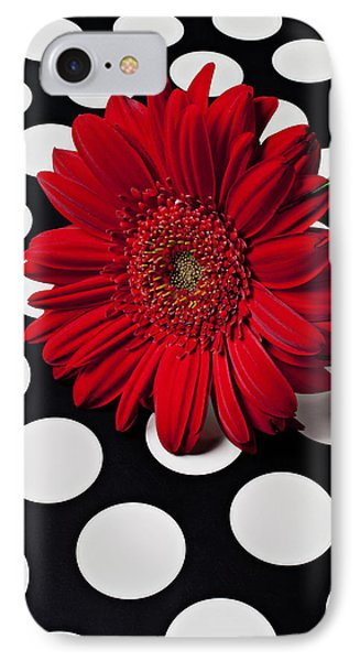 Red Mum With White Spots Phone Case by Garry Gay
