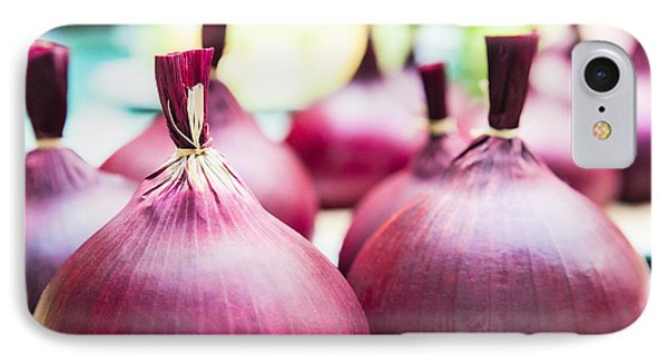 Red Onions IPhone Case by Maj Seda