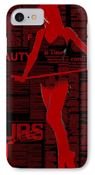 Red Paper Dance Phone Case by Naxart Studio