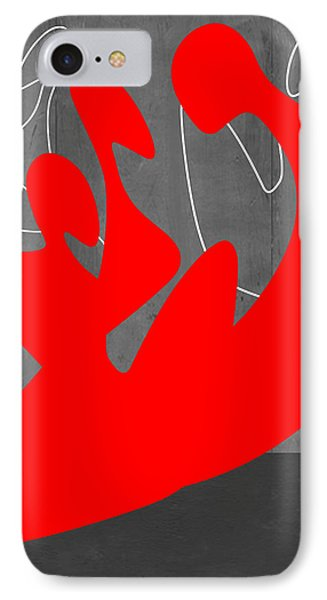 Red People IPhone Case by Naxart Studio