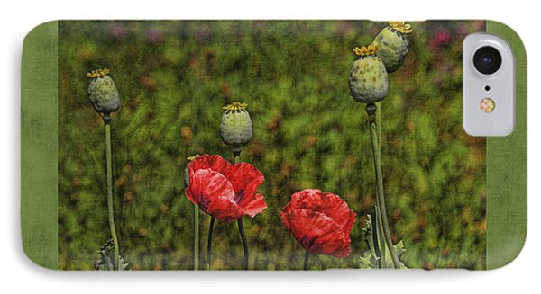 Red Poppies Phone Case by Bonnie Bruno